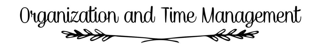 Organization&TimeManagement